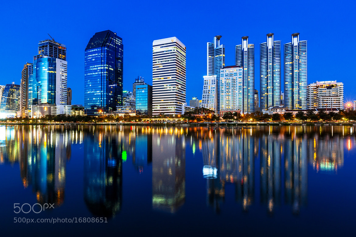 Photograph Skyline Reflection by Suppalak Klabdee on 500px