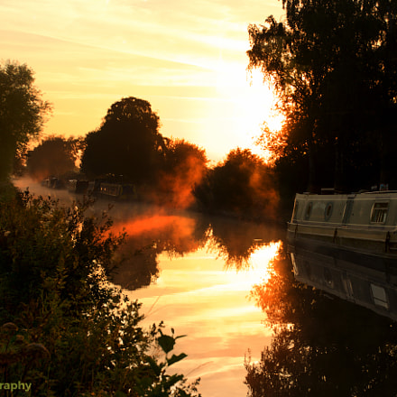 Sunrise on canal, Canon EOS 70D, TAMRON 16-300mm F/3.5-6.3 Di II VC PZD B016