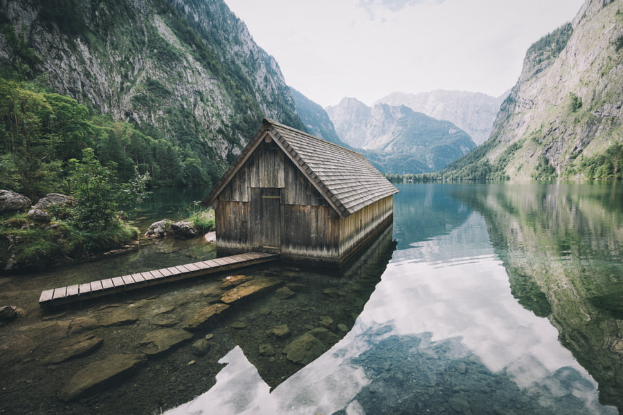 Second boathouse at the lake Obersee in Bavaria, you decide which one is better. by Johannes Hulsch on 500px.com