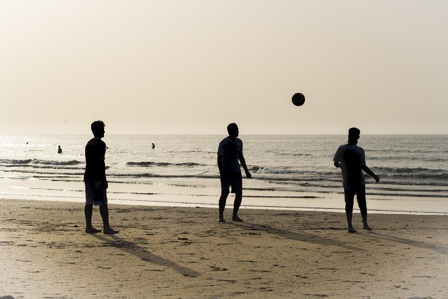 Football Time on Qurum Beach