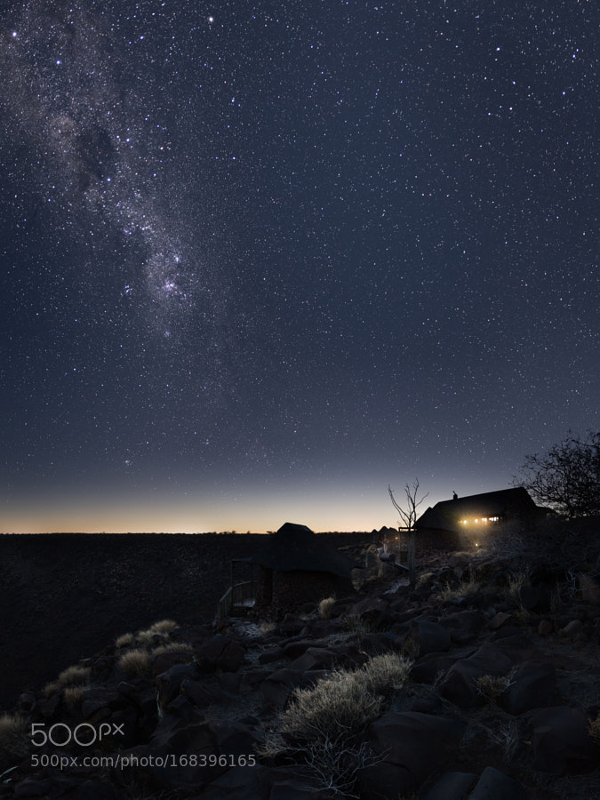 Milky way above the Etendeka Plateau