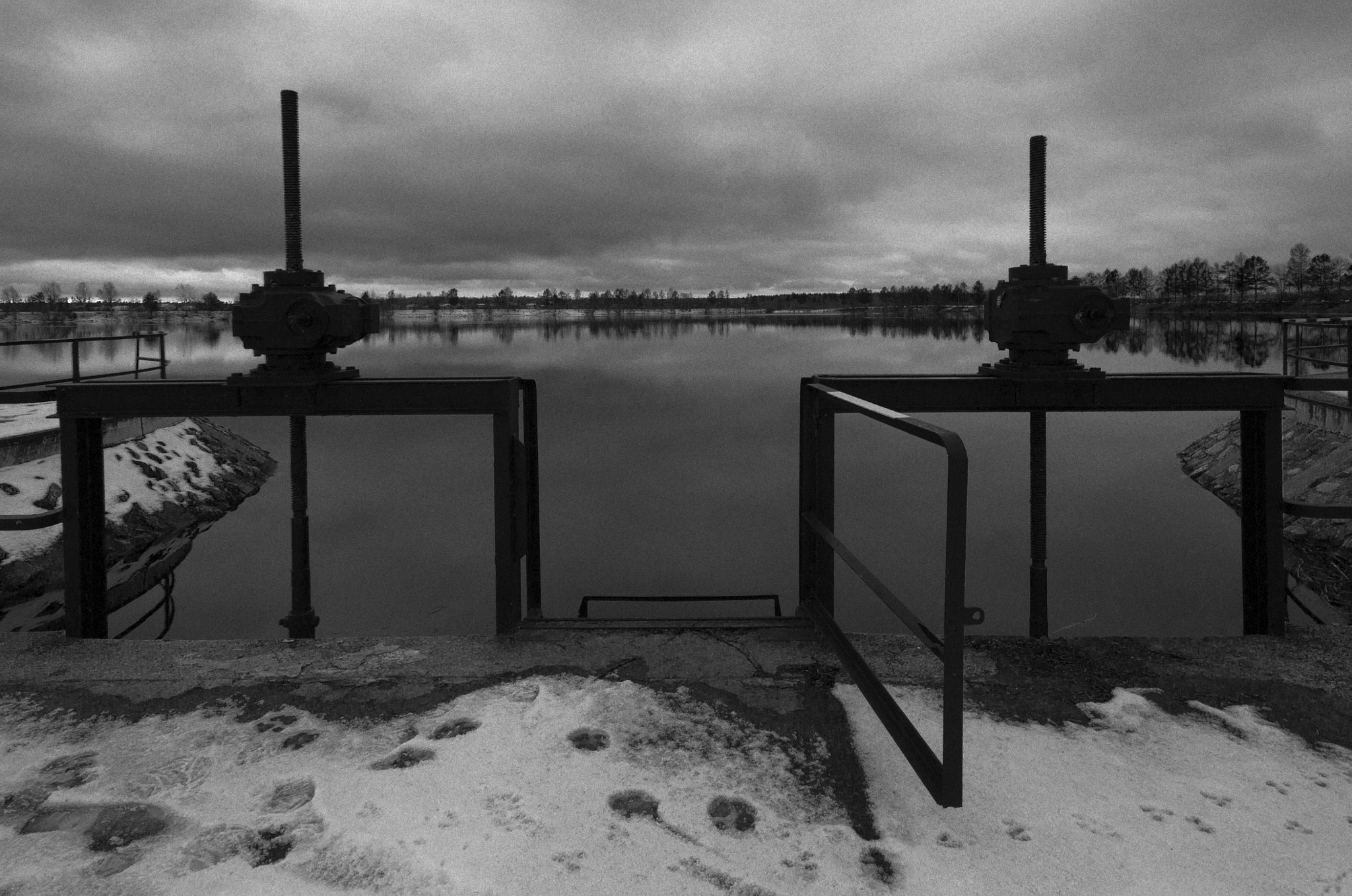 Photograph Wicket directly into the cold water (The old floodgate) by Alexandr A on 500px