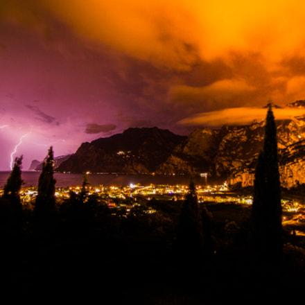 Lightning over Torbole Italy