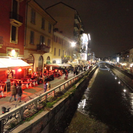 Night lights in Naviglio, Sony DSC-W580