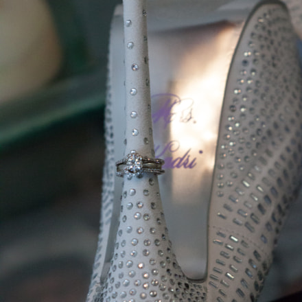 Wedding Shoe & Rings, Canon EOS REBEL T1I, Canon EF 55-200mm f/4.5-5.6