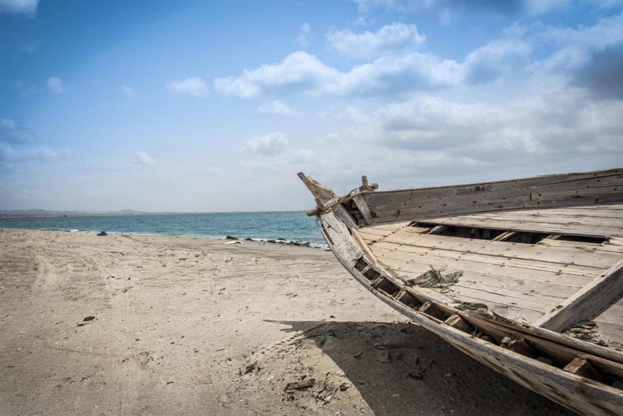 Wrecked boat on Masirah Island