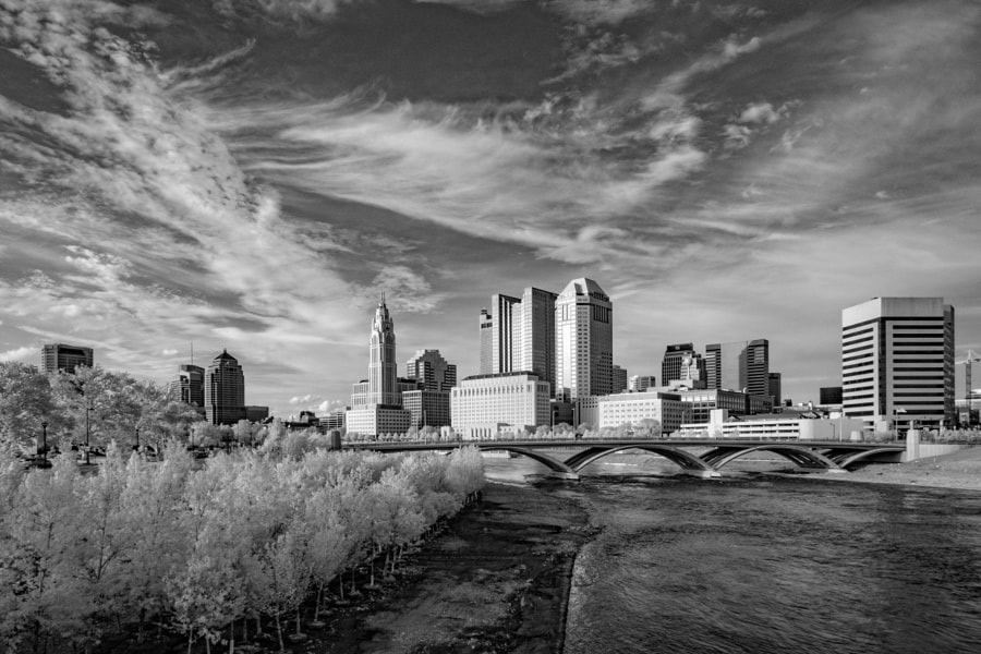 Columbus skyline (infrared)