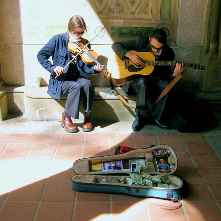 Street Musicians, NYC, Canon POWERSHOT SD550