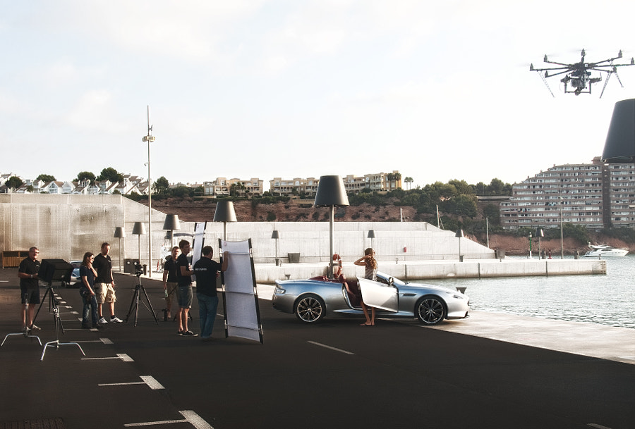 Aston Martin shooting. Making-of.