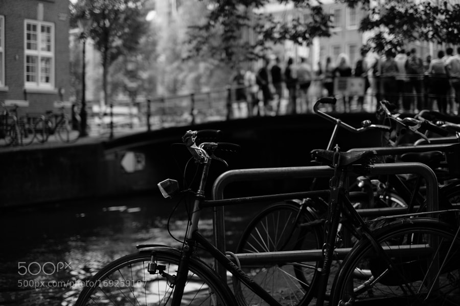 Bike at canal in Amsterdam 2