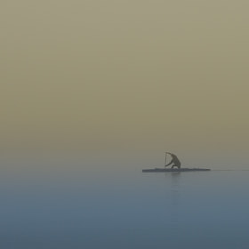 Canoe in the mist by Mindaugas Ma (minmac)) on 500px.com