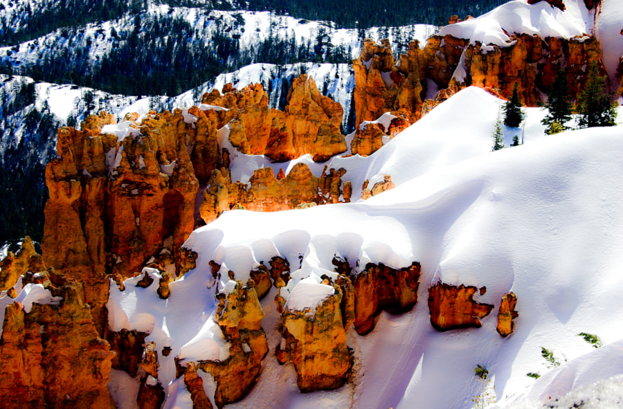 Rock and snow