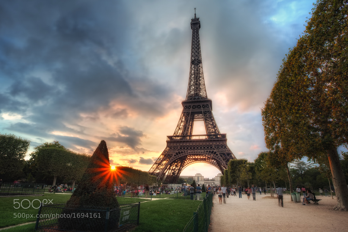 Photograph Sunset at The Eiffel Tower by Conor MacNeill on 500px