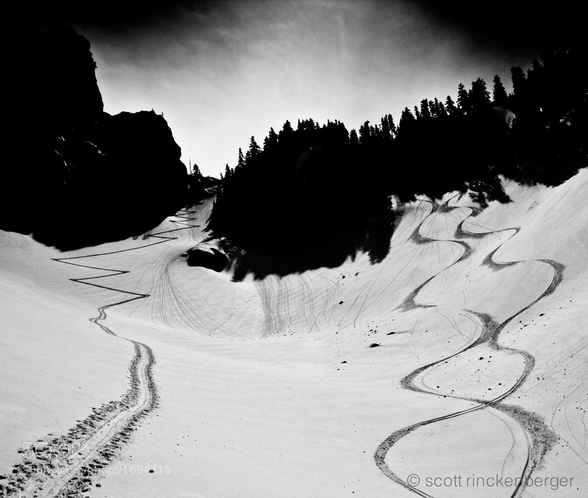 Photograph Ascent and descent tracks by Scott  Rinckenberger on 500px