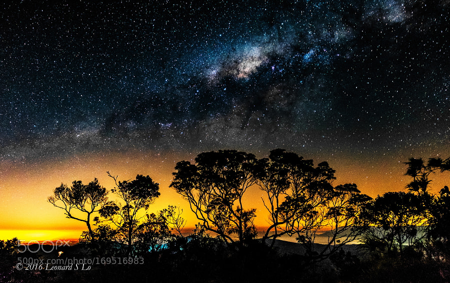 The Milky Way Over The Hill