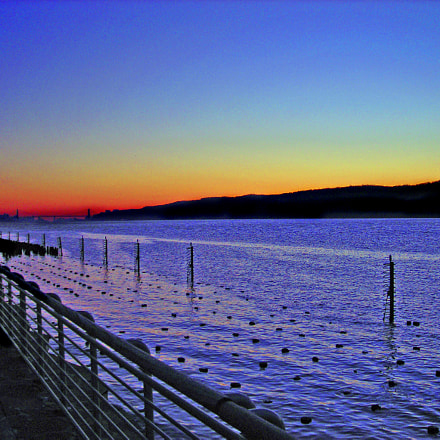 Hudson River by dusk, Nikon COOLPIX L3