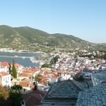 Panoramic skopelos island, Panasonic DMC-FT30