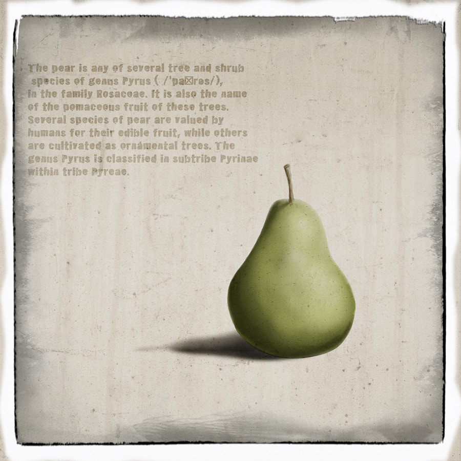 Photograph The Pear by Christian Fletcher on 500px