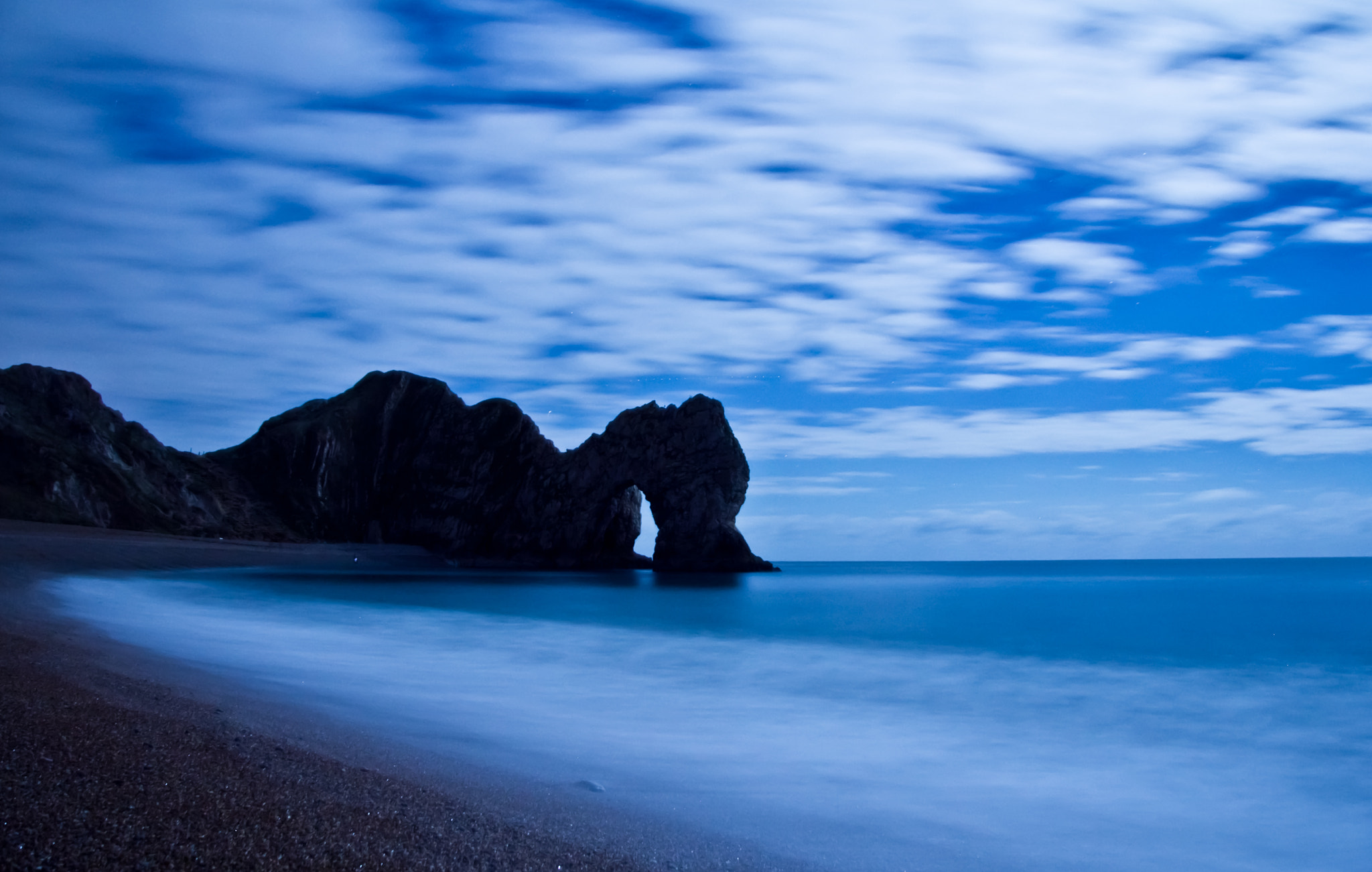 Photograph Durdle Door Winter Night by Lewis Blackburn on 500px