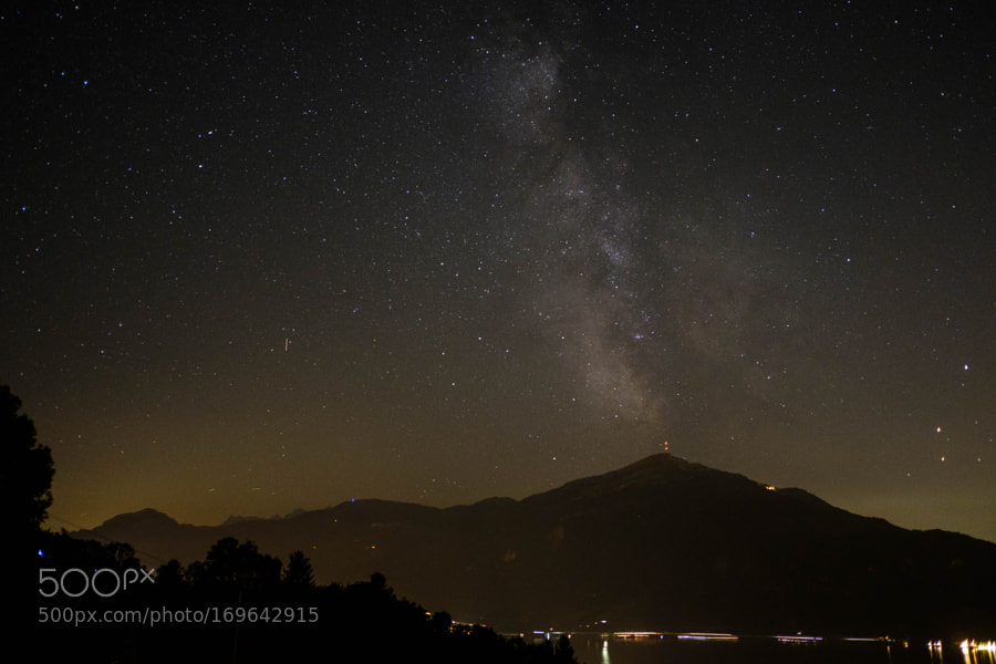 Milky Way over Mt. Rigi