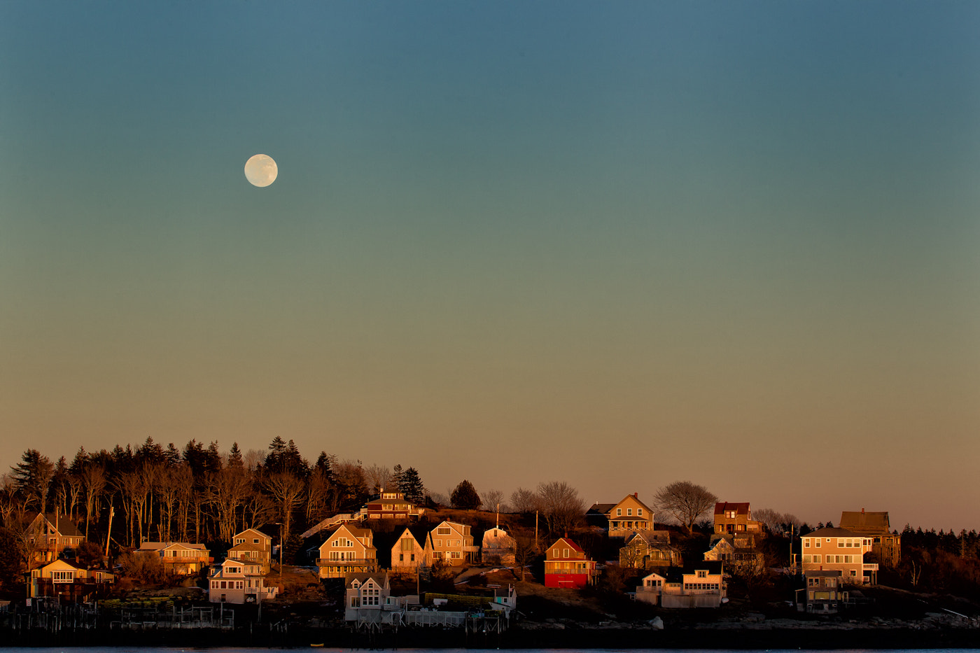 Photograph Sunset Moon by Rob Smith on 500px