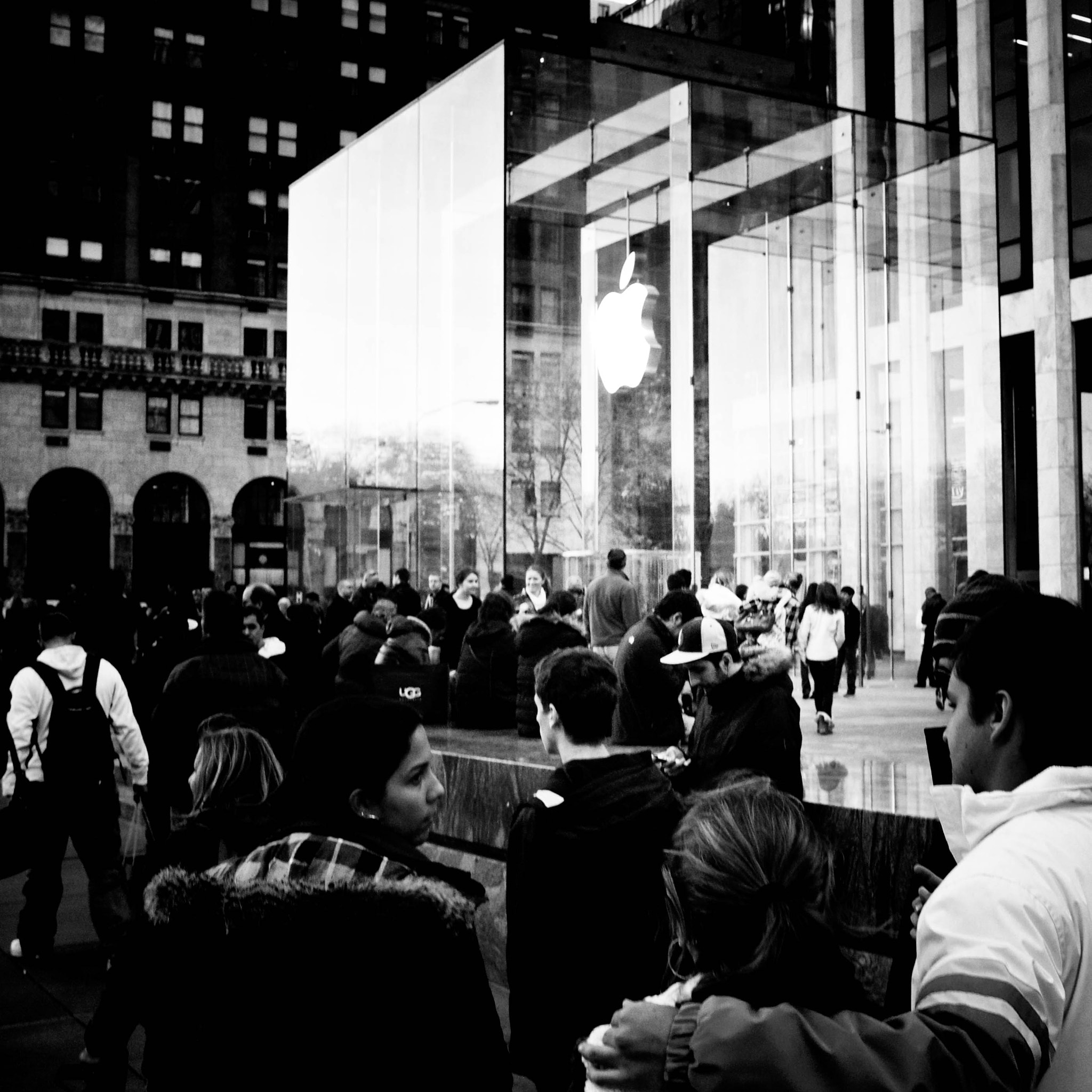 Photograph Fifth Avenue, Black Friday, Apple Store Line by Joseph Nash on 500px