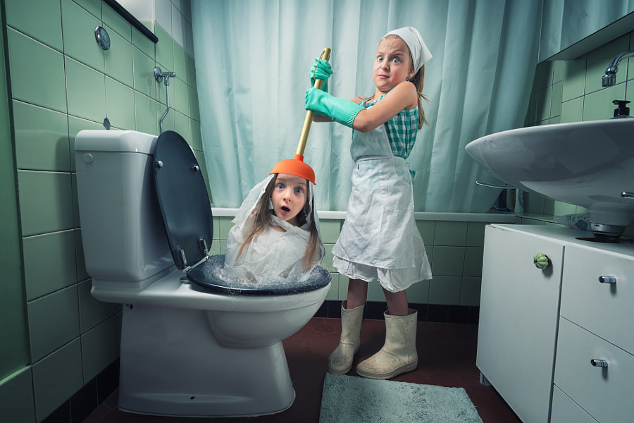 Just an unclogged toilet by John Wilhelm is a photoholic
