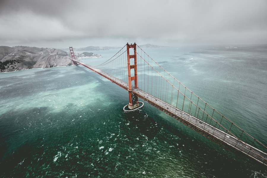 Golden Gate From Above by Connor Surdi on 500px.com