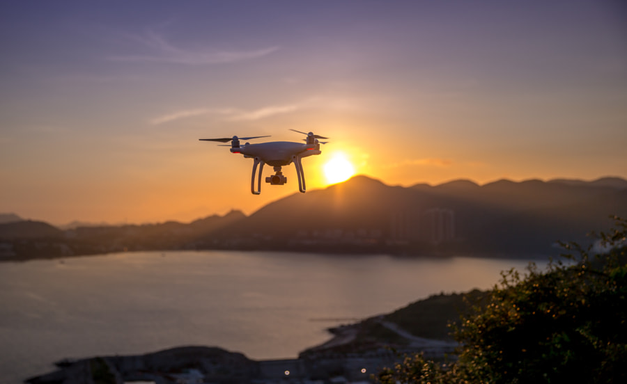 DJI in sunset by Alfred Li on 500px.com