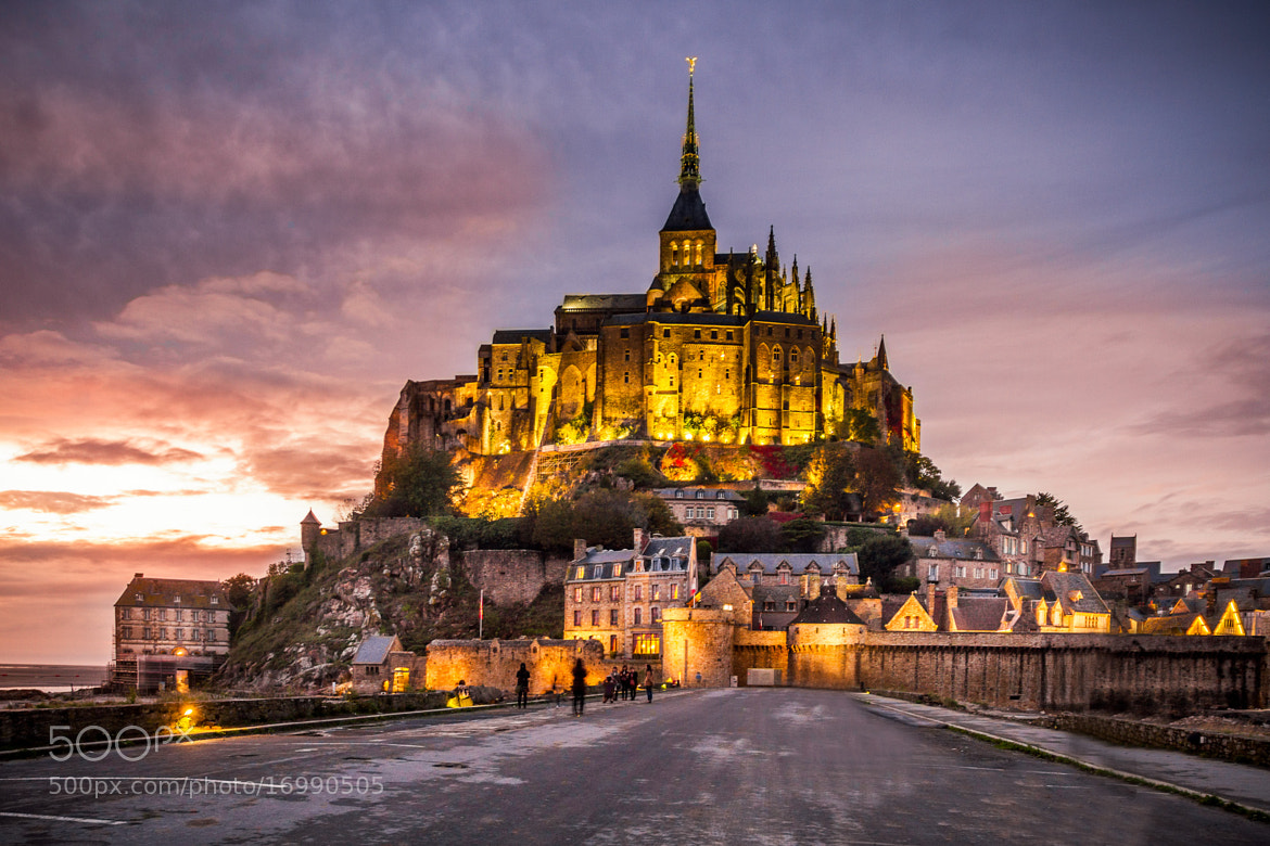 Photograph Mont Saint Michel by Night by Ramelli Serge on 500px