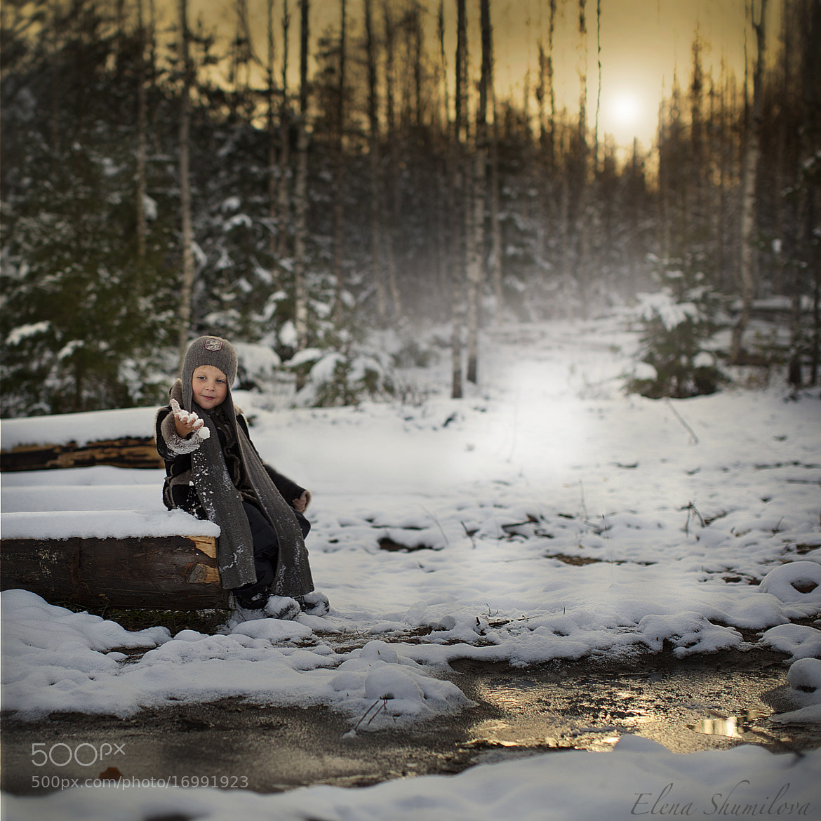 Photograph The first snow & the last puddle by Elena Shumilova on 500px