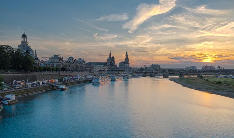Dresden, quay of the Elbe