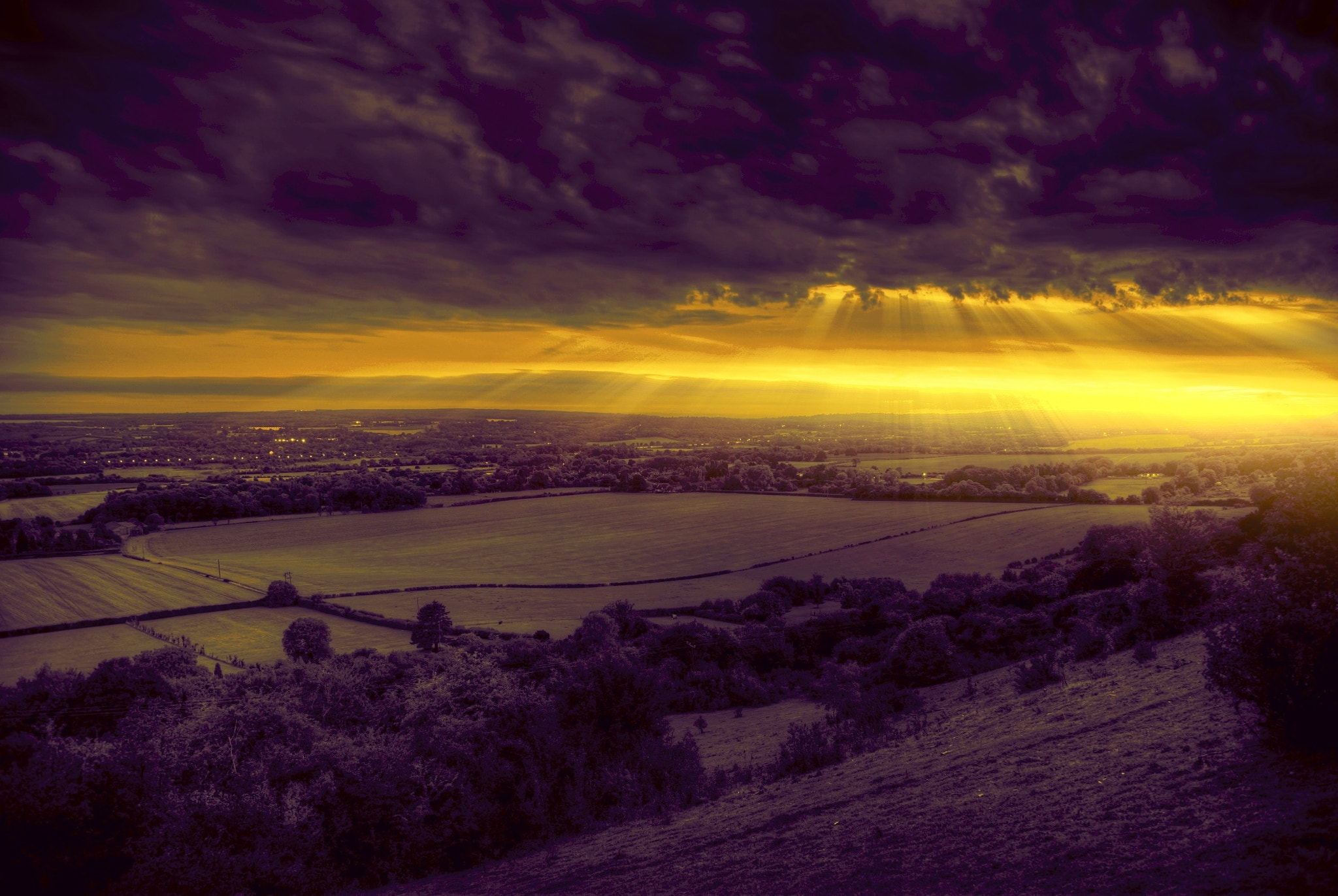 Photograph Sundown over downs by Phil Martin on 500px