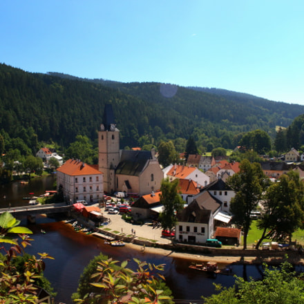 The Rosenberg town in Czech Republic