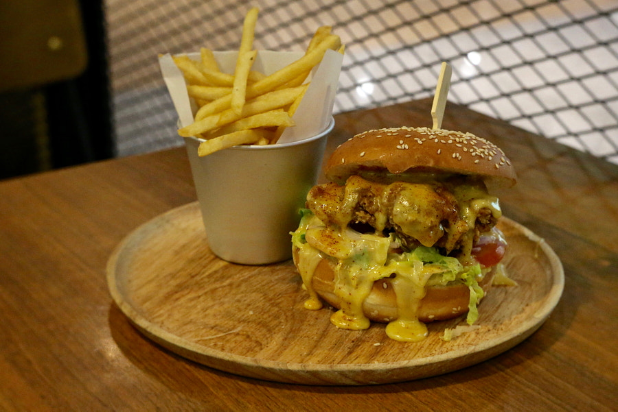 The Real McCoy - Salted Egg Burger by The Quarters