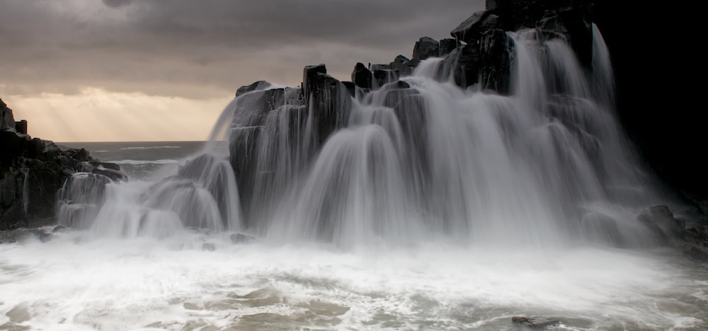Photograph Water fall at Bombo by donald Goldney on 500px