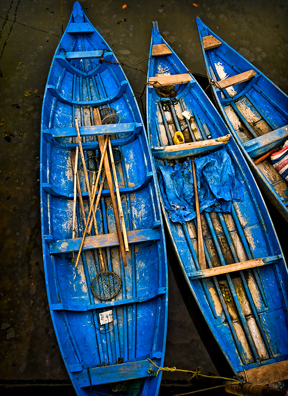 Photograph Blue Boats at Mooring by Michel Latendresse on 500px