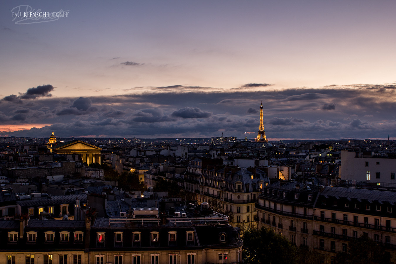 Photograph Paris Nightfall by Paul Klensch on 500px