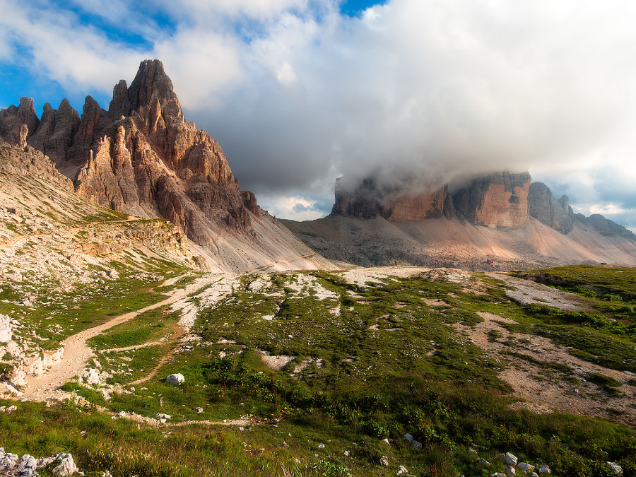 Three peask of Lavaredo and mt. Paterno by Fabrizio Lunardi on 500px.com