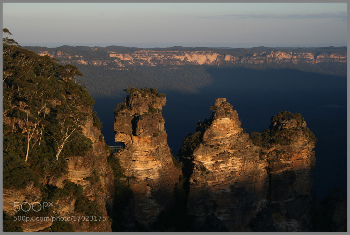 Photograph Last Light at the Three Sisters by Alan McIntosh on 500px