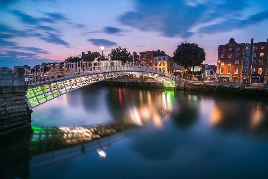 Ha'Penny Bridge, the Icon of Dublin by Colm Keating