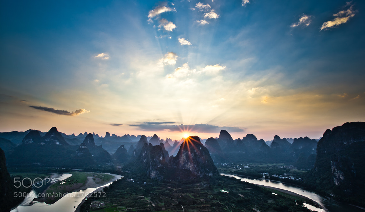 Photograph Xingping sunset by Alexander G H Hogstrom on 500px