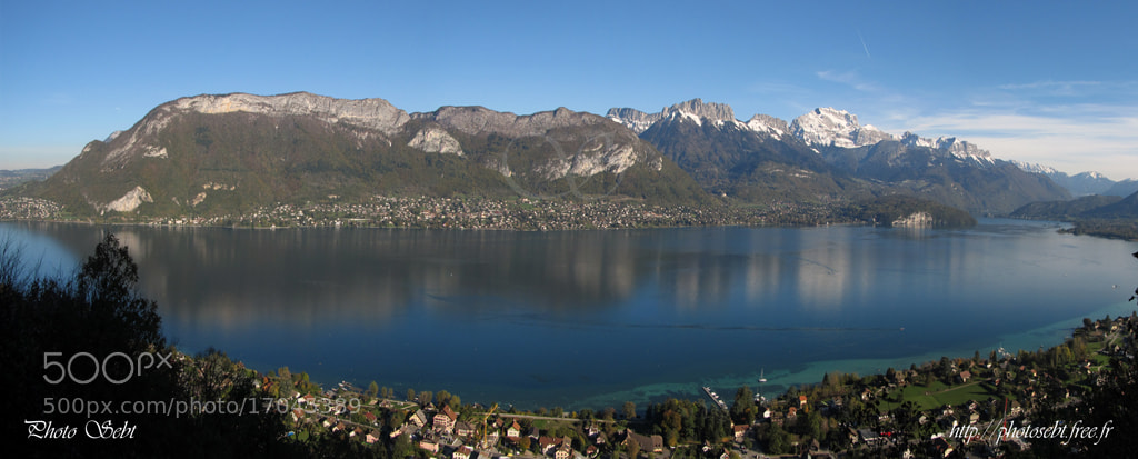 Photograph Panorama Lac d'Annecy by Sébastien TORCHIO on 500px