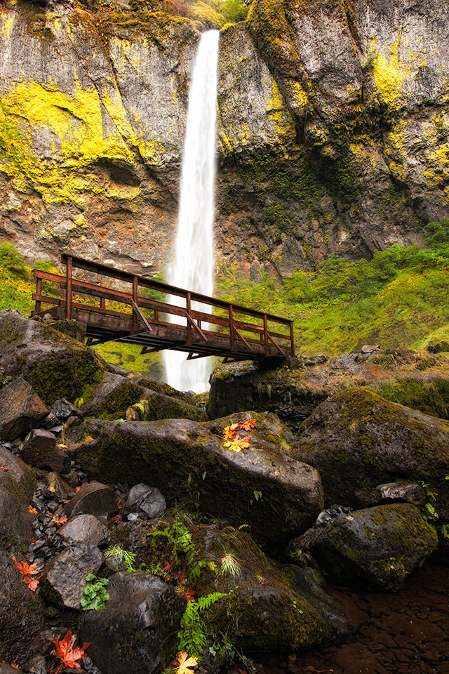 Photograph Elowah Falls in autumn by Ben Hearthside on 500px