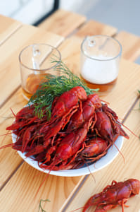 Tasty boiled crayfishes and beer on old table by Alejandro Santiago on 500px