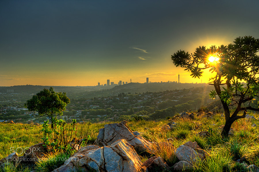 Photograph Sunset at Jozi by Robbie Aspeling on 500px