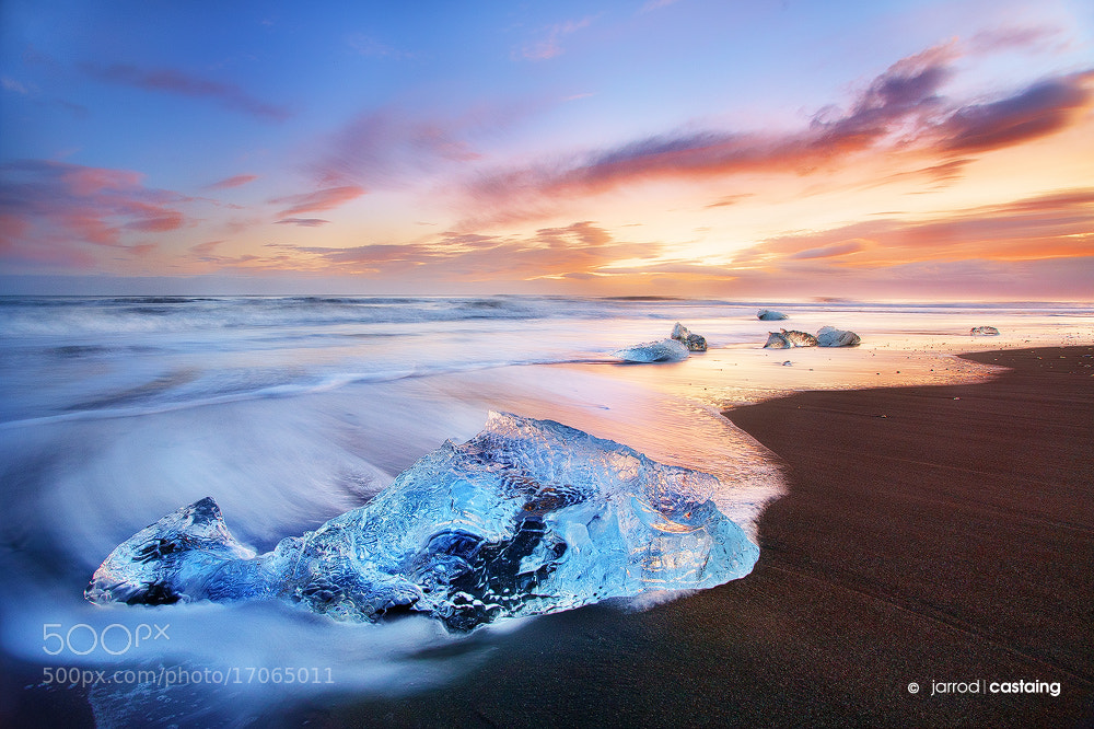 Photograph Ice On The Beach by Jarrod Castaing on 500px