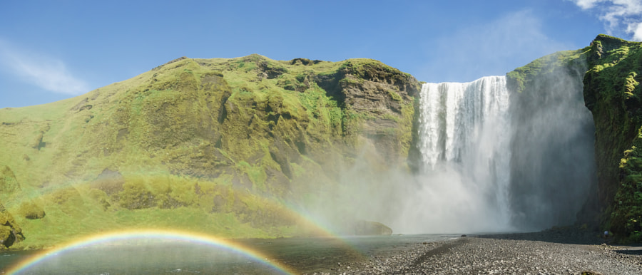 Rainbow over Skogafoss waterfall - Iceland by Antonello Franzil on 500px.com