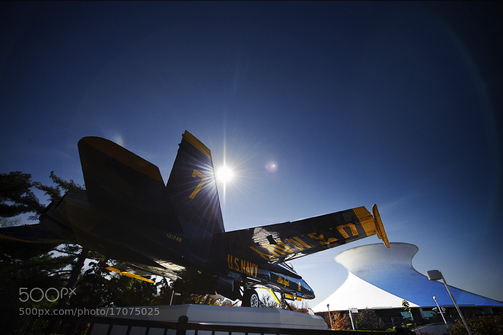 Photograph Blue Angels F18 and the Planetarium by Bryan Spaeth on 500px