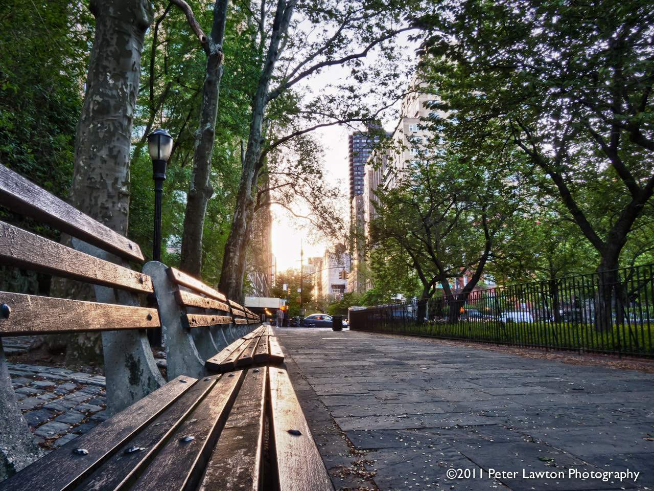 Photograph Park Bench at Sunset by Peter Lawton on 500px